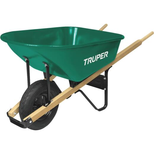 Truper 6 Cu. Ft. Steel Wheelbarrow