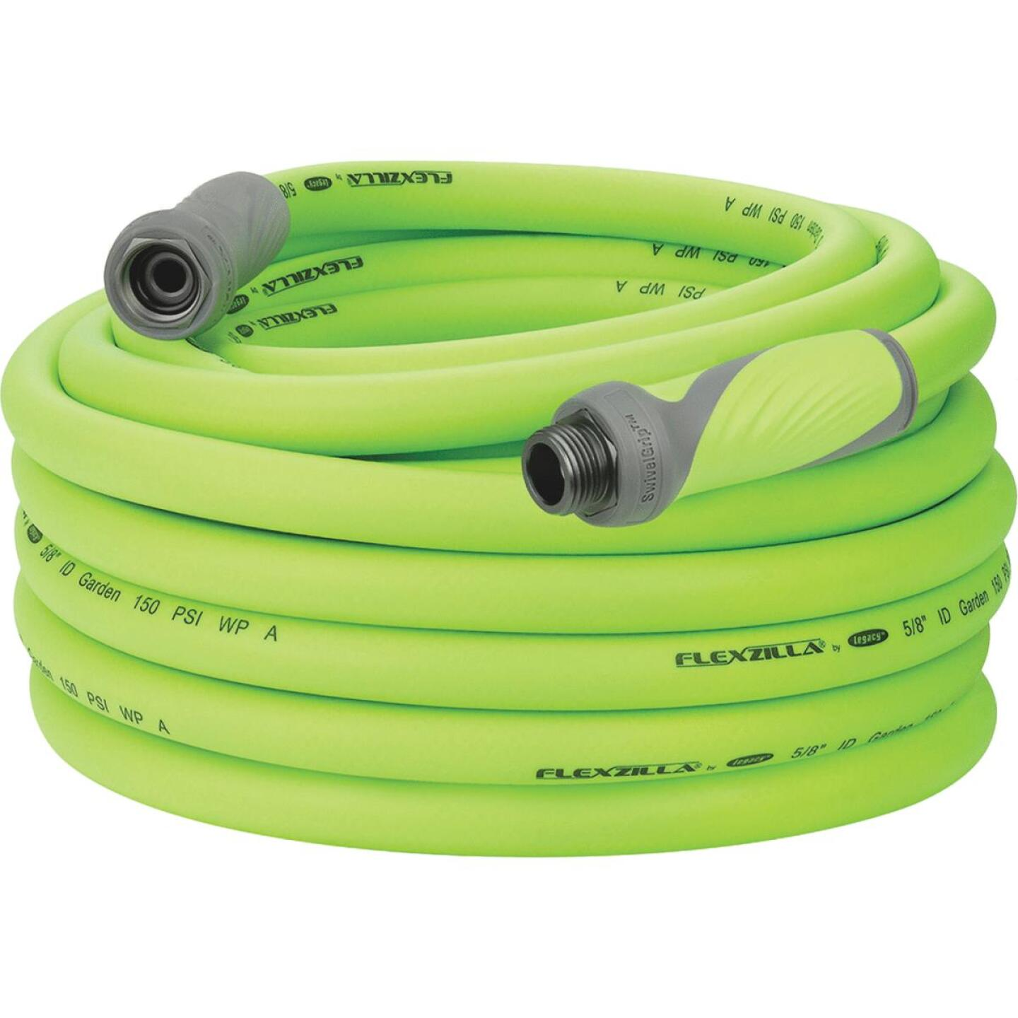 Flexzilla 5/8 In. Dia. x 75 Ft. L. Drinking Water Safe Garden Hose with SwivelGrip Connections Image 3