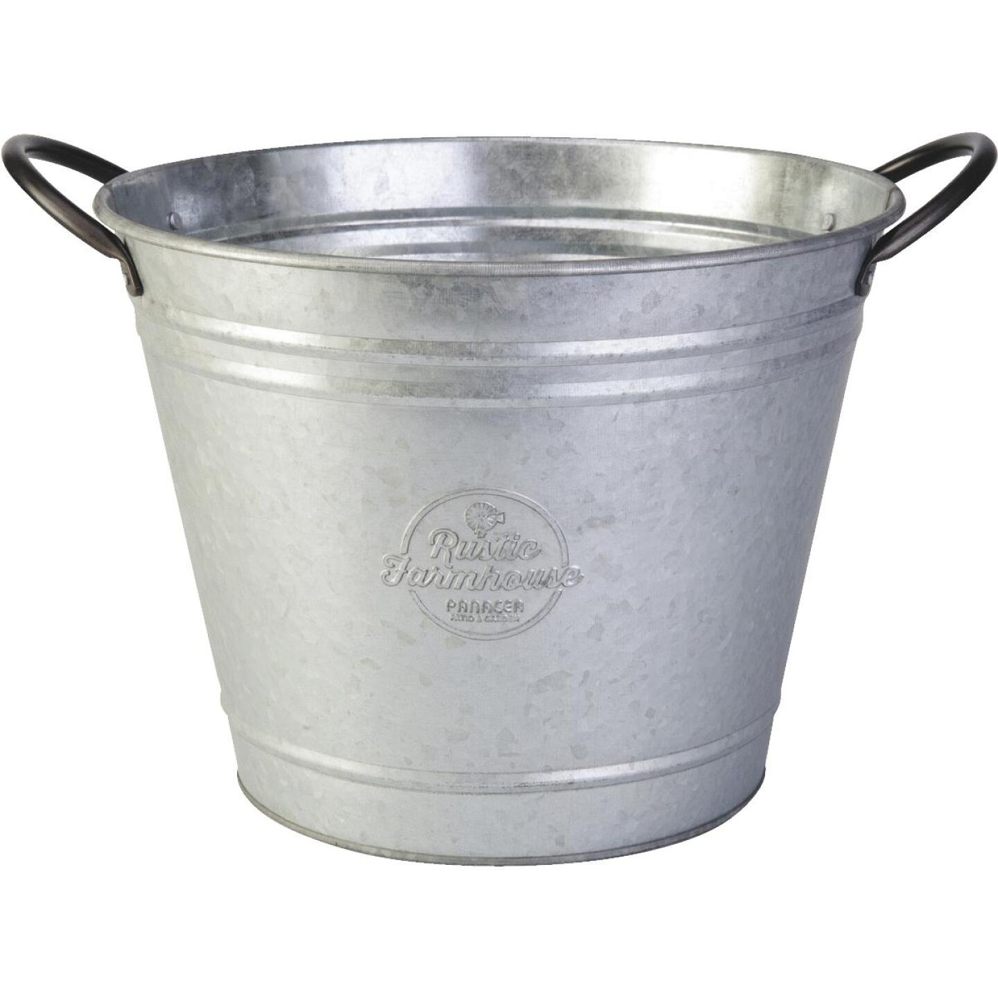 Panacea 10 In. Galvanized Steel Washtub Planter Image 1