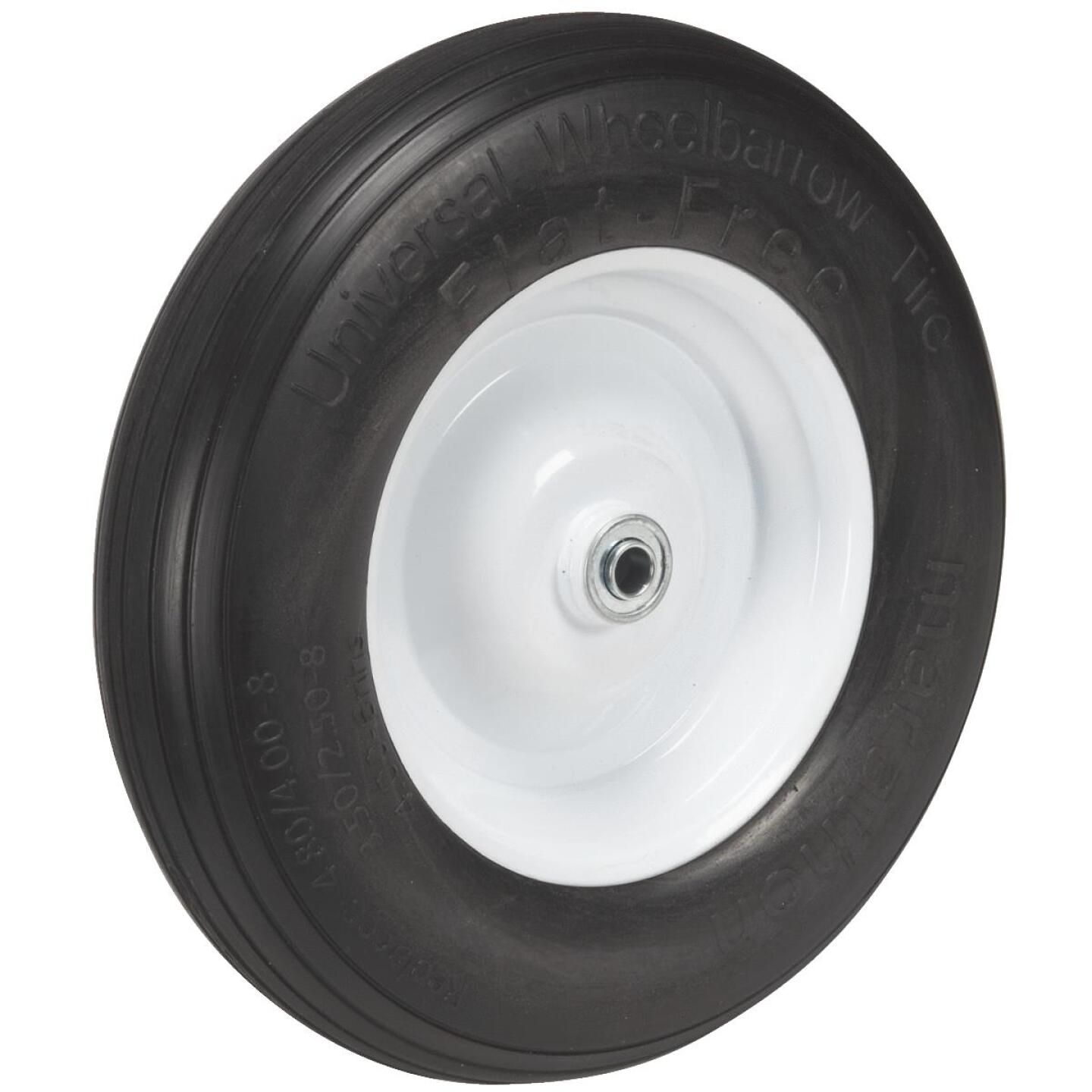 Marathon 14.5 In. Universal Flat Free Wheelbarrow Wheel Image 3