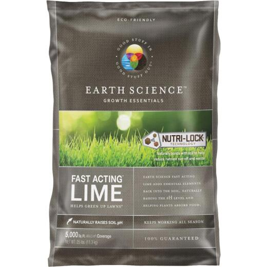 Earth Science Fast Acting Lime, 25 Lb.