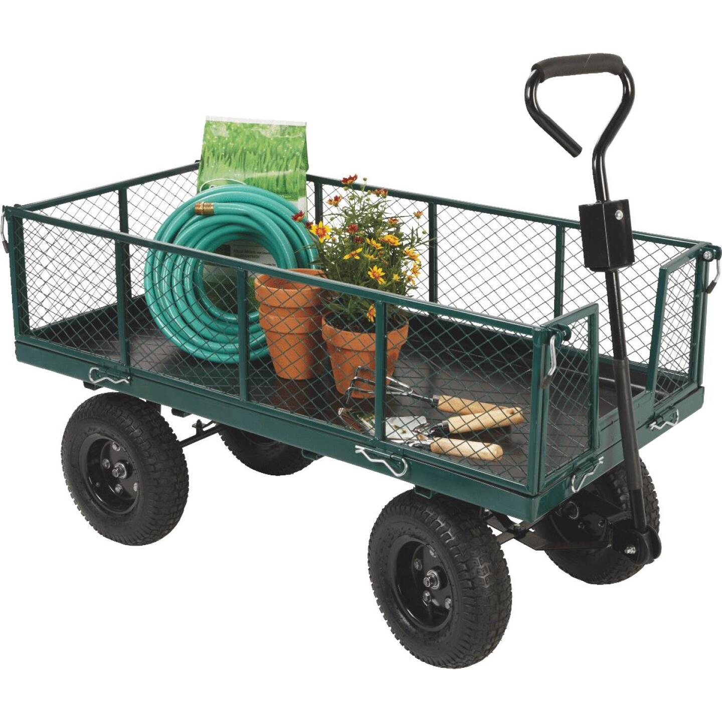 Best Garden 1000 Lb. Steel Garden Cart with Collapsible Sides Image 7