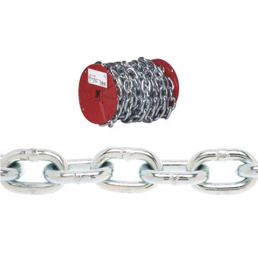 Campbell 3/16 In. 100 Ft. Zinc-Plated Low-Carbon Steel Coil Chain