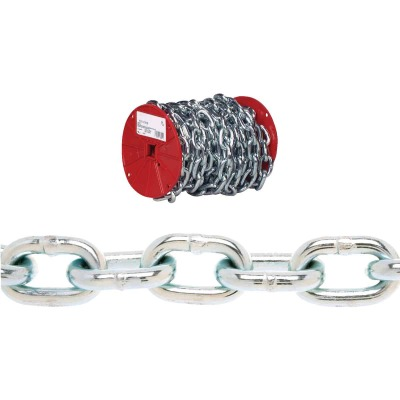 Campbell 1/4 In. 65 Ft. Zinc-Plated Low-Carbon Steel Coil Chain