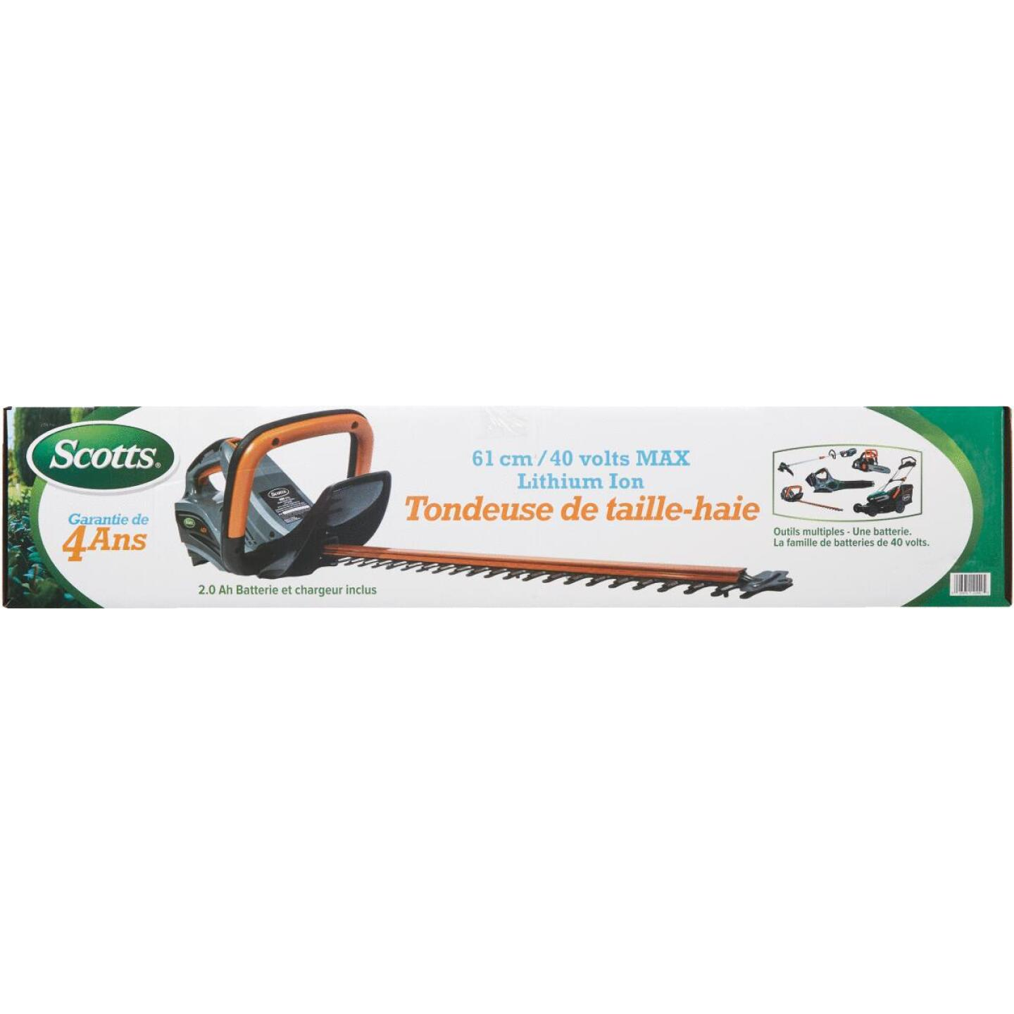 Scotts 24 In. 40V Lithium Ion Cordless Hedge Trimmer Image 2