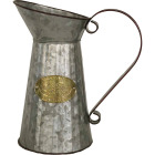 Robert Allen 11.25 In. x 6.25 In. x 10.5 In. Metal Aged Mocha Pitcher Planter Image 1