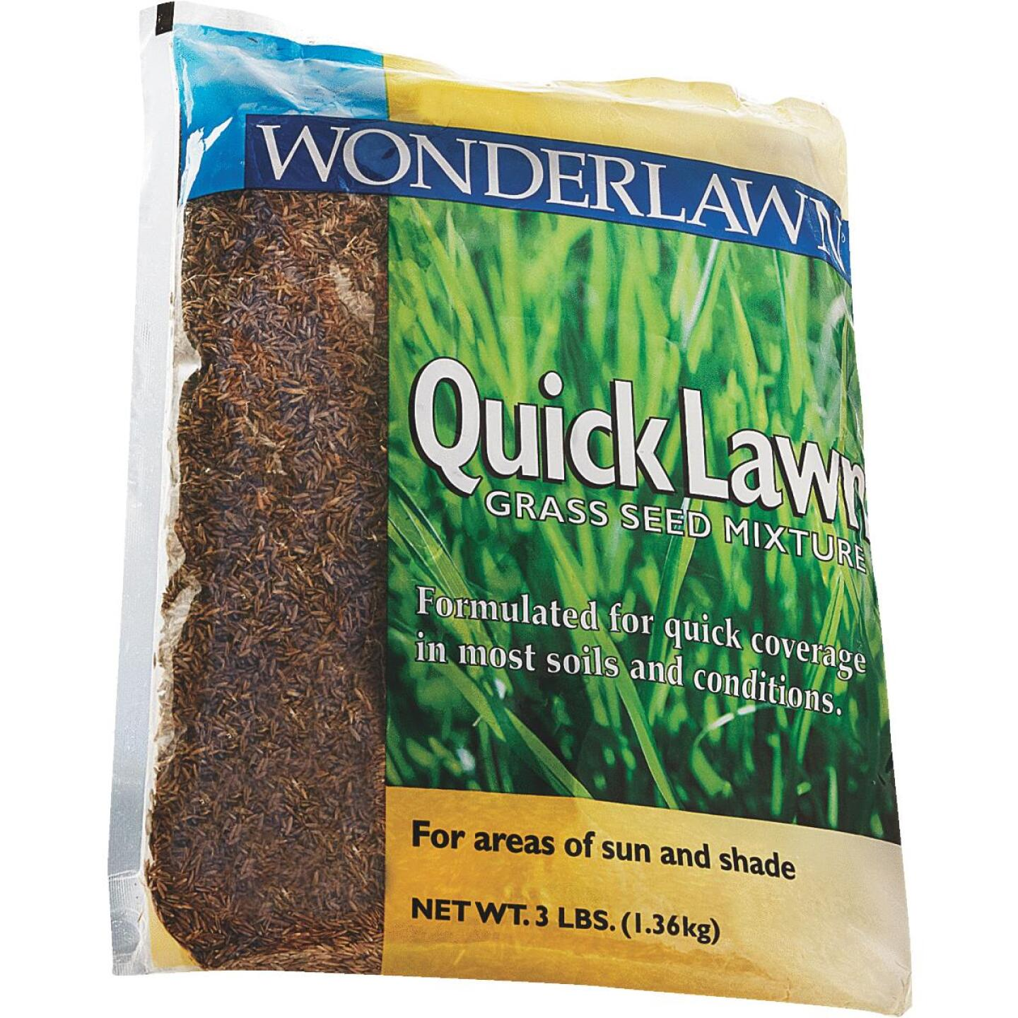 Wonderlawn Quick Lawn 3 Lb. 900 Sq. Ft. Coverage Annual & Perennial Ryegrass Grass Seed Image 4