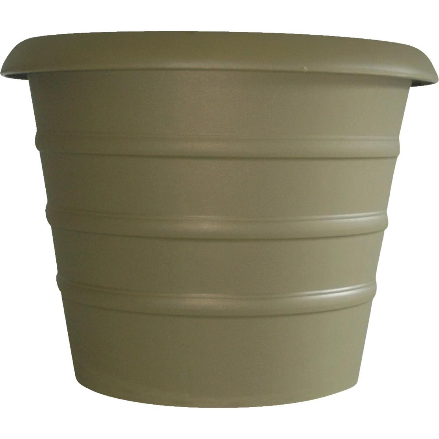 Myers Marina 12 In. Dia. Slate Green Poly Flower Pot Image 1