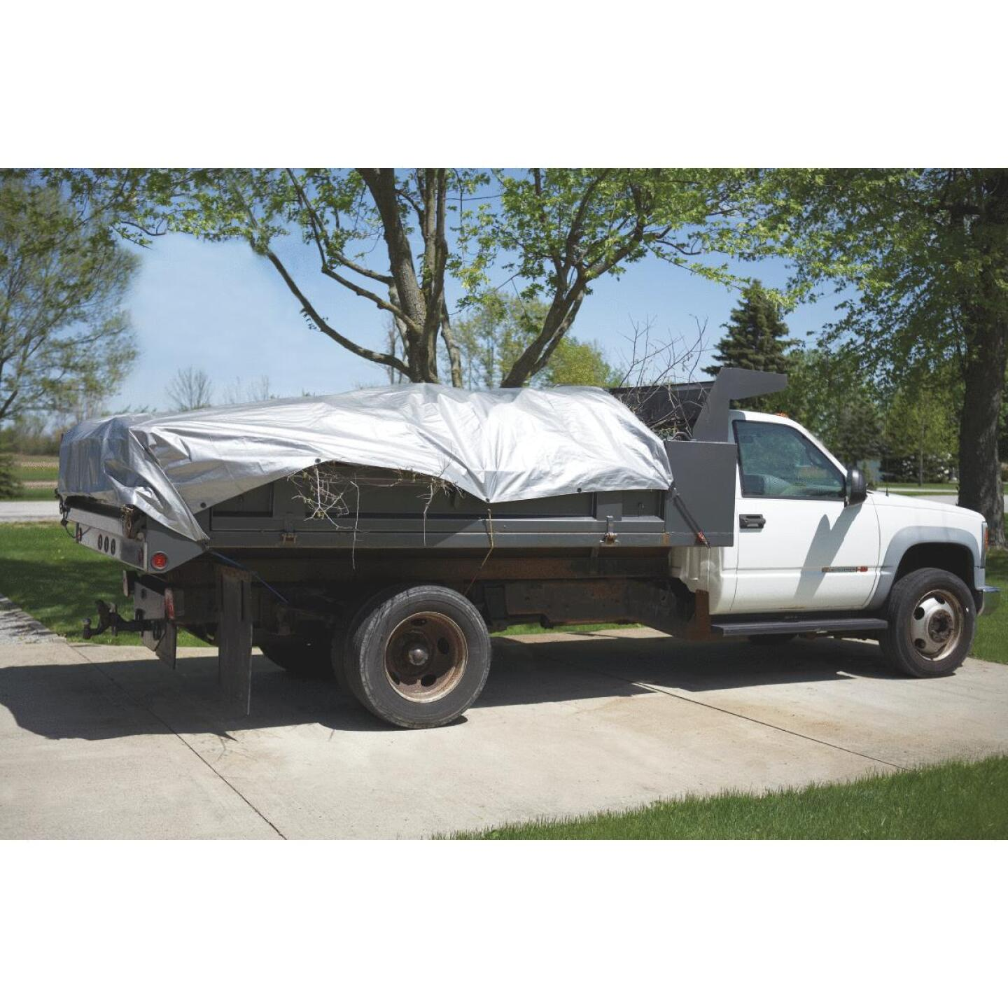 Do it Best Silver Woven 9 Ft. x 12 Ft. Heavy Duty Poly Tarp Image 2