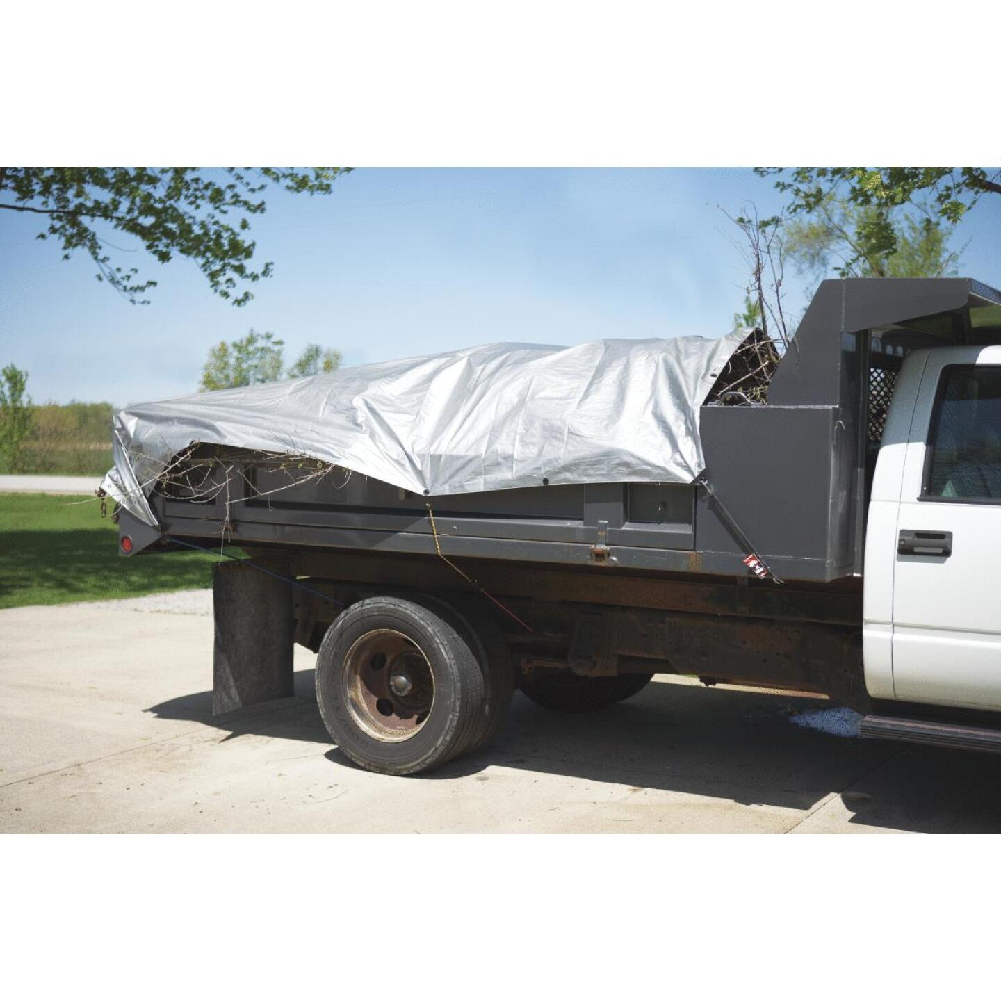 Do it Best Silver Woven 9 Ft. x 12 Ft. Heavy Duty Poly Tarp Image 3