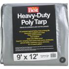 Do it Best Silver Woven 9 Ft. x 12 Ft. Heavy Duty Poly Tarp Image 1