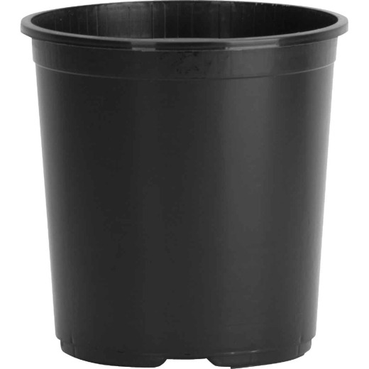 Myers 5 Gal. 10-1/4 In. H. x 12 In. Dia. Black Poly Flower Pot