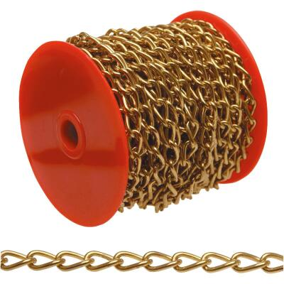 Campbell #250 33 Ft. Brass-Plated Metal Craft Chain