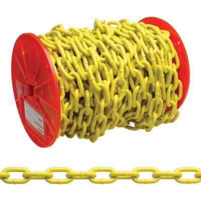 Campbell 3/16 In. 100 Ft. Yellow Poly-Coated Low-Carbon Steel Coil Chain