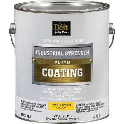 Do it Best Alkyd Industrial Coating, Osha Yellow, 1 Gal.