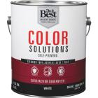 Do it Best Color Solutions 100% Acrylic Latex Self-Priming Flat Exterior House Paint, White, 1 Gal. Image 1