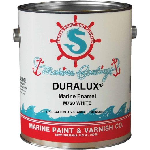 DURALUX Gloss Marine Enamel, White, 1 Gal.