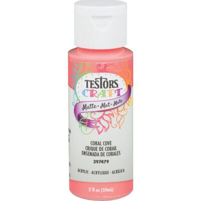 Testors 2 Oz. Acrylic Matte Craft Paint, Coral Cove