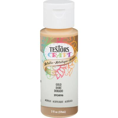 Testors 2 Oz. Acrylic Metallic Craft Paint, Gold