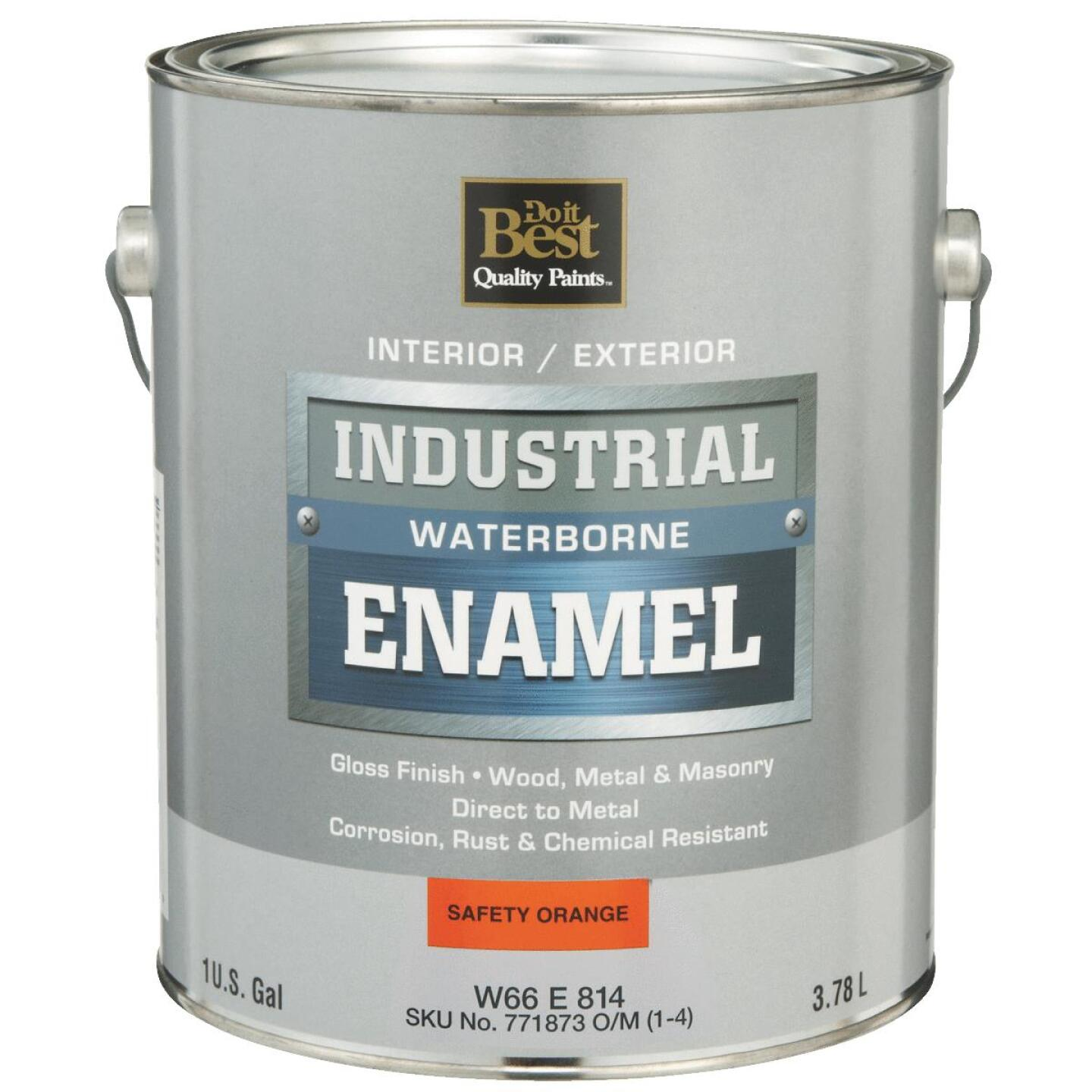 Do it Best Waterborne Industrial Enamel, Safety Orange, 1 Gal. Image 1