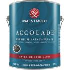 Pratt & Lambert Accolade 100% Acrylic Paint & Primer Semi-Gloss Exterior House Paint, Super One Coat White, 1 Gal. Image 1