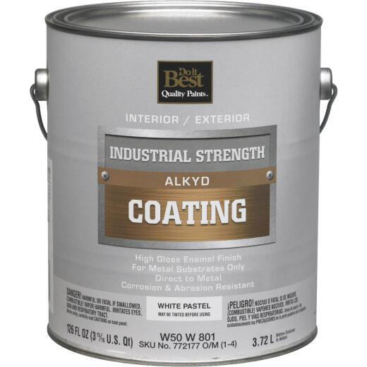 Do it Best Pastel Base Alkyd Industrial Coating, White, 1 Gal.