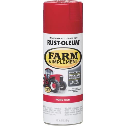 Rust-Oleum 12 Oz. Ford Red Farm & Implement Spray Paint