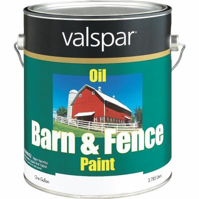 Valspar Oil Paint & Primer In One Low Sheen Barn & Fence Paint, Red, 1 Gal.