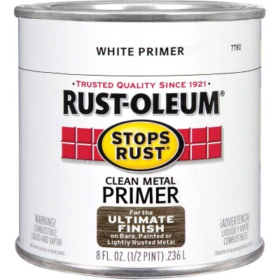 Rust-Oleum Stops Rust Clean Metal Primer, White, 1/2 Pt.