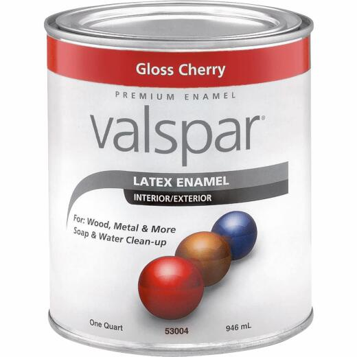Valsar Premium Latex Enamel, Cherry Red, 1 Qt.