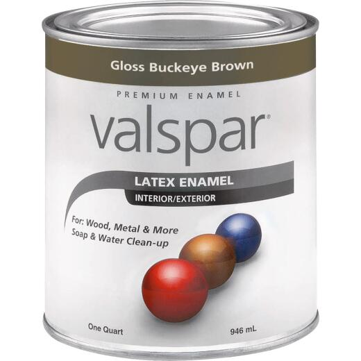 Valsar Premium Latex Enamel, Brown, 1 Qt.
