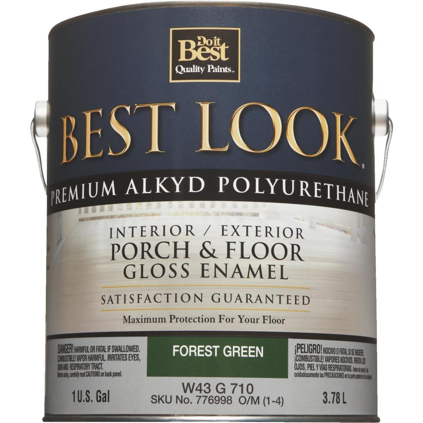 Best Look 1 Gal. Forest Green Polyurethane Gloss Porch & Floor Enamel Image 2