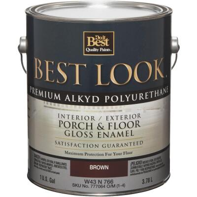 Best Look 1 Gal. Brown Polyurethane Gloss Porch & Floor Enamel