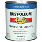 Rust-Oleum Stops Rust Oil Based Gloss Protective Rust Control Enamel, Royal Blue, 1 Qt. Image 1