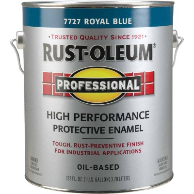 Rust-Oleum Professional Oil Based Gloss Protective Rust Control Enamel, Royal Blue, 1 Gal.