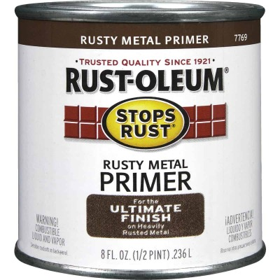Rust-Oleum Stops Rust Rusty Metal Primer, Red/Brown, 1/2 Pt.