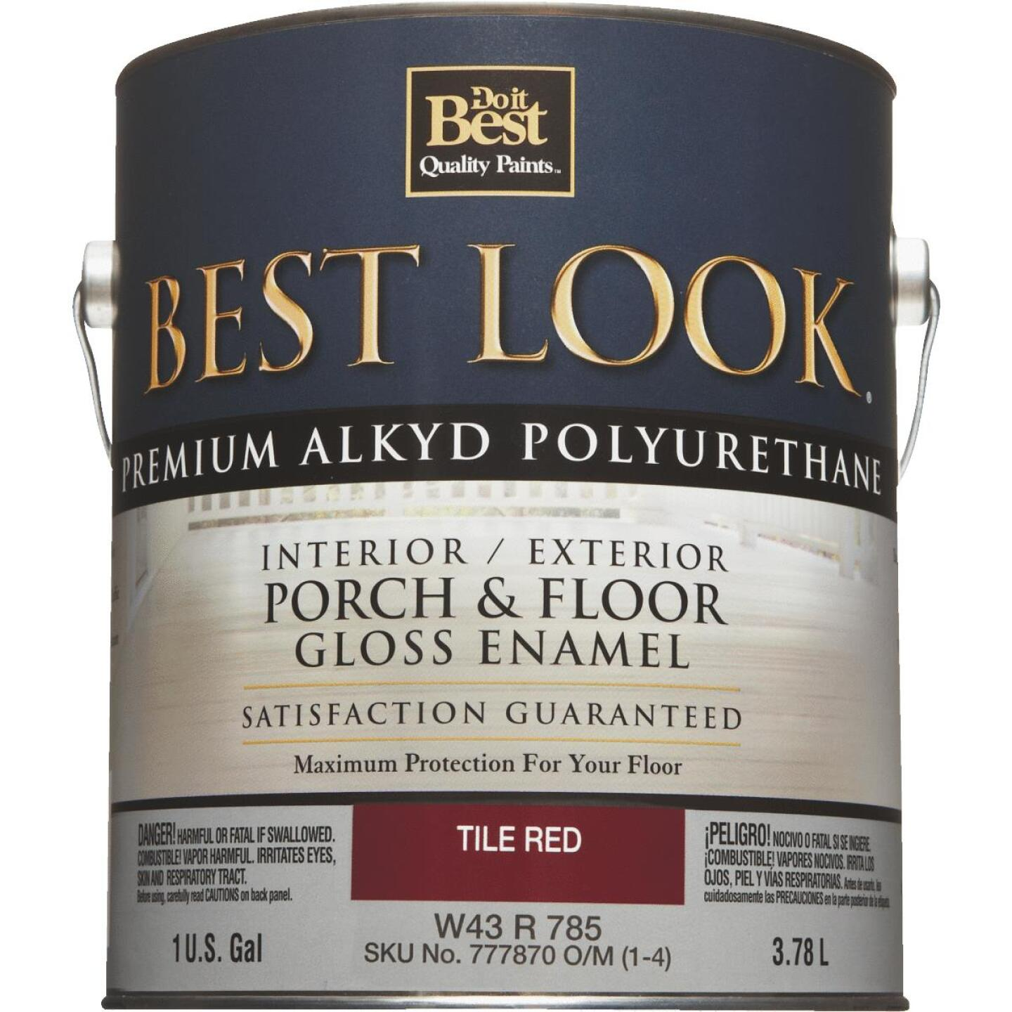 Best Look 1 Gal. Tile Red Polyurethane Gloss Porch & Floor Enamel Image 2