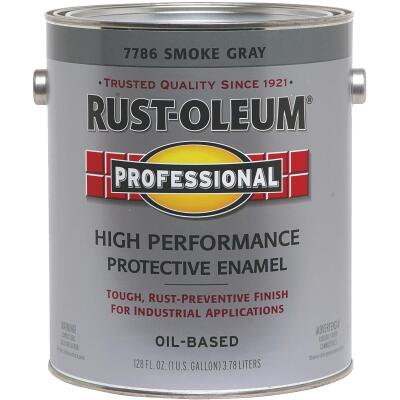 Rust-Oleum Professional Oil Based Gloss Protective Rust Control Enamel, Smoke Gray, 1 Gal.