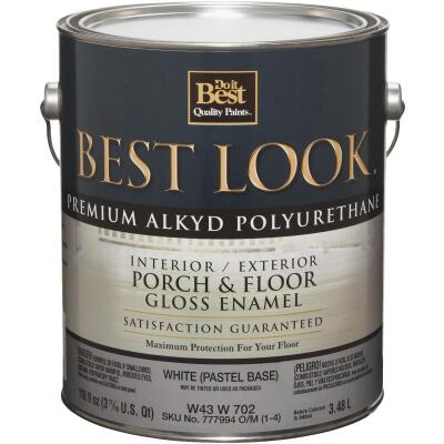 Best Look 1 Gal. White Pastel Base Polyurethane Gloss Porch & Floor Enamel