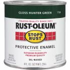 Rust-Oleum Stops Rust Oil Based Gloss Protective Rust Control Enamel, Hunter Green, 1/2 Pt. Image 1