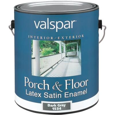 Valspar 1 Gal. Dark Gray Self Priming Latex Satin Porch & Floor Enamel
