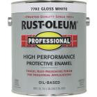 Rust-Oleum Professional Oil Based Gloss Protective Rust Control Enamel, White, 1 Gal. Image 1