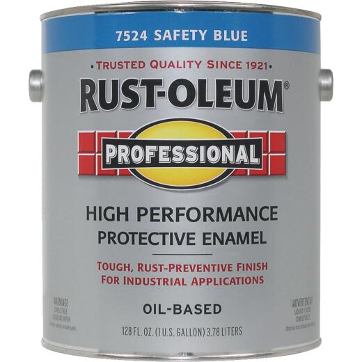 Rust-Oleum Professional Industrial Enamel, Safety Blue, 1 Gal.