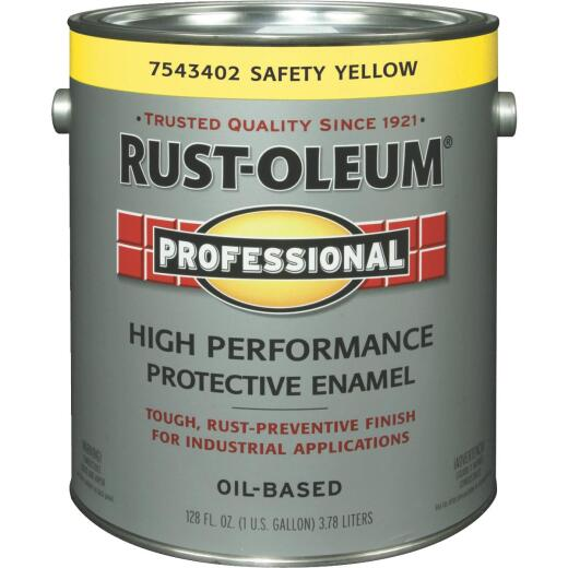 Rust-Oleum Professional Industrial Enamel, Safety Yellow, 1 Gal.