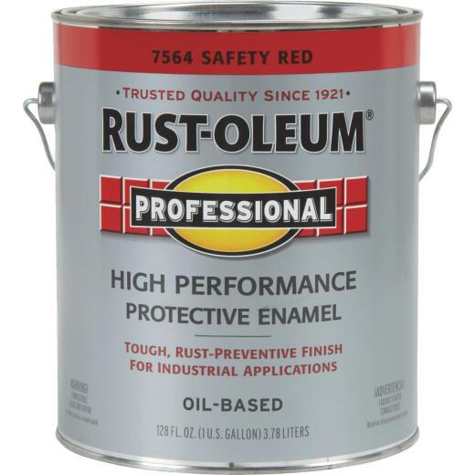 Rust-Oleum Professional Industrial Enamel, Safety Red, 1 Gal.