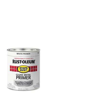 Rust-Oleum Stops Rust Clean Metal Primer, White, 1 Qt.