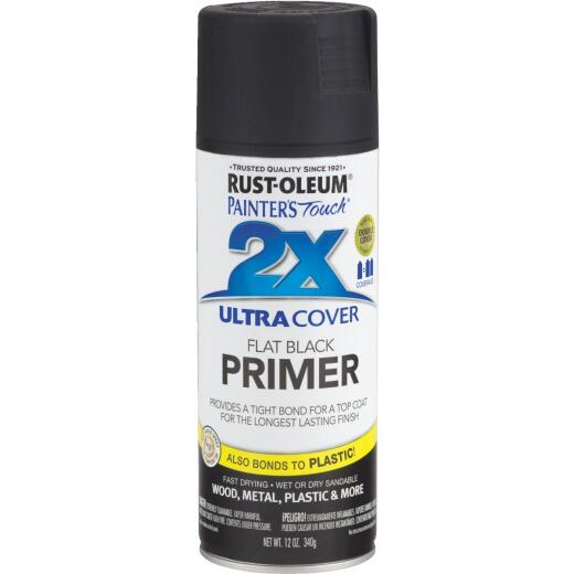 Rustoleum Painter's Touch 2X Ultra Cover Flat Black Spray Paint Primer