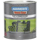 Hammerite Rust Cap Paint & Primer In One Hammered Finish, Gray, 1 Qt. Image 1
