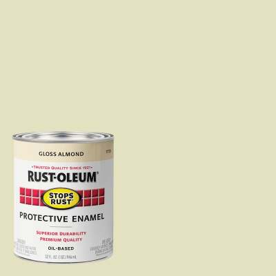 Rust-Oleum Stops Rust Oil Based Gloss Protective Rust Control Enamel, Almond, 1 Qt.