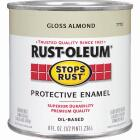Rust-Oleum Stops Rust Oil Based Gloss Protective Rust Control Enamel, Almond, 1/2 Pt. Image 1